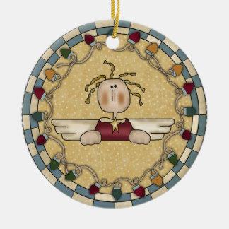 Heavenly Angel Ceramic Christmas Ornament