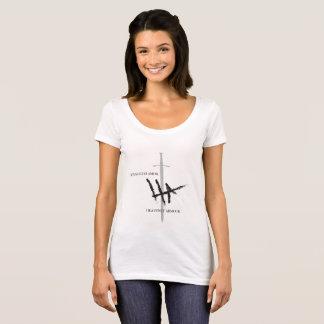 HEAVENLY ARMOUR FIRMA NEGRA CAMISETA T-Shirt