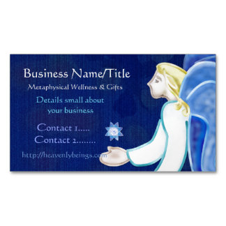 Heavenly Beings Angel Folk Art MEDIUM LIGHTWORKER Magnetic Business Card
