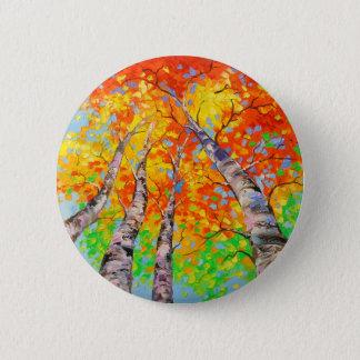 Heavenly birch 2 inch round button