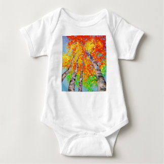 Heavenly birch baby bodysuit