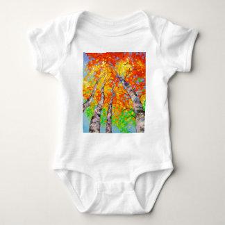 Heavenly birch baby bodysuit