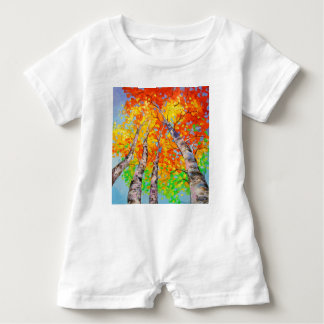 Heavenly birch baby romper