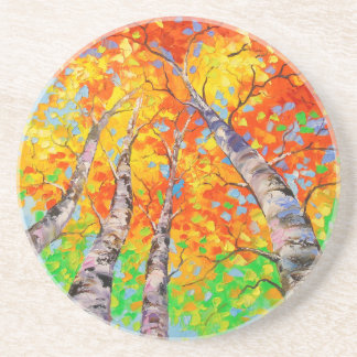 Heavenly birch coaster