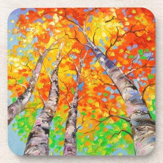 Heavenly birch coasters