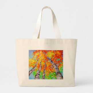 Heavenly birch large tote bag