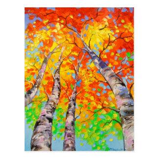 Heavenly birch postcard