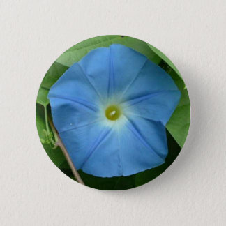 Heavenly Blue Morning Glory 2 Inch Round Button