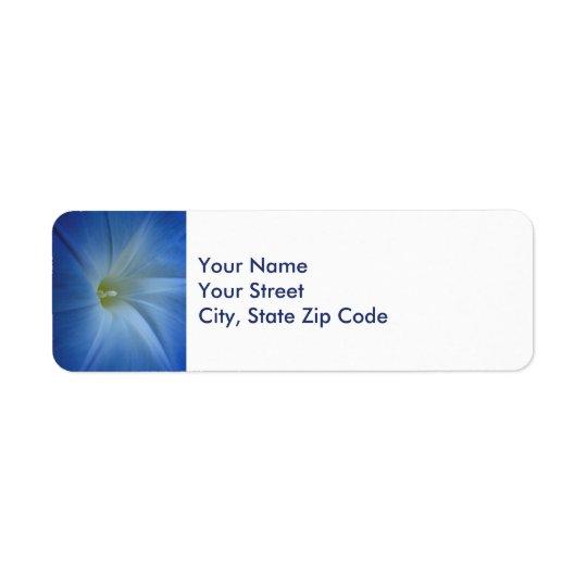 Heavenly Blue Morning Glory Close-Up address label