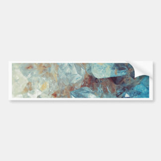 Heavenly Blue Quartz Crystal Bumper Sticker