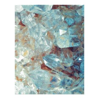 Heavenly Blue Quartz Crystal Letterhead