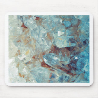 Heavenly Blue Quartz Crystal Mouse Pad