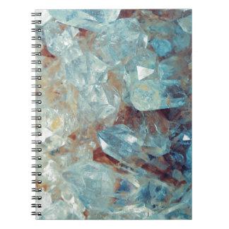 Heavenly Blue Quartz Crystal Spiral Notebook