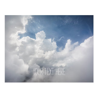 Heavenly Clouds and Blue Sky Postcard