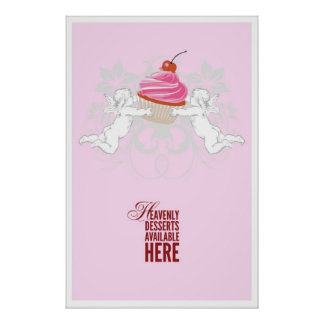 Heavenly Desserts Bakery Poster