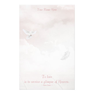 Heavenly Dove Personalized Stationery