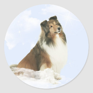 Heavenly Grace Sheltie Classic Round Sticker