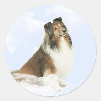 Heavenly Grace Sheltie Round Sticker