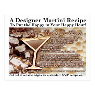 Heavenly Hash Martini Recipe Postcard