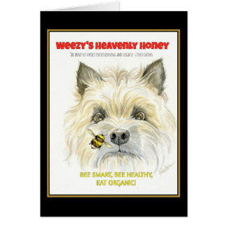 Heavenly Honey Terrier Card