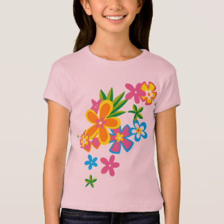 Heavenly Hula Flowers Girls T-Shirt