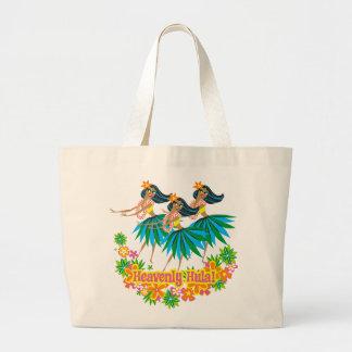 Heavenly Hula Girl Hawaiian Beach Bag