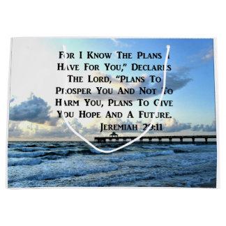 HEAVENLY JEREMIAH 29:11 SCRIPTURE DESIGN LARGE GIFT BAG