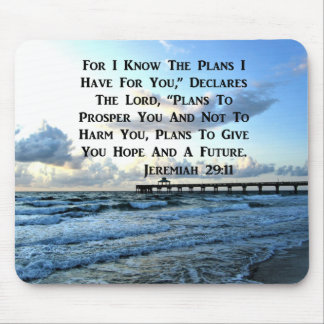 HEAVENLY JEREMIAH 29:11 SCRIPTURE DESIGN MOUSE PAD