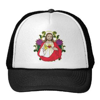 Heavenly Jesus Sacred Heart Trucker Hat