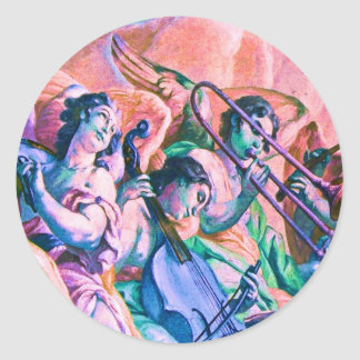 Heavenly Music Band Classic Round Sticker