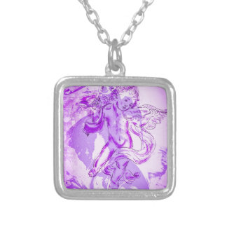 Heavenly music, glad Christmas Silver Plated Necklace