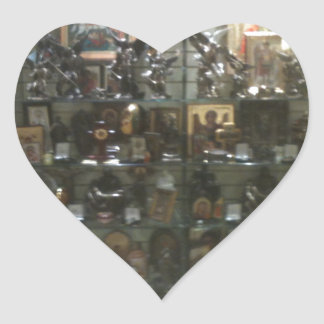 Heavenly paraphernalia heart sticker