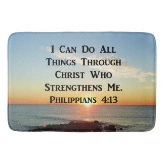 HEAVENLY PHILIPPIANS 4:13 BIBLE VERSE BATH MAT