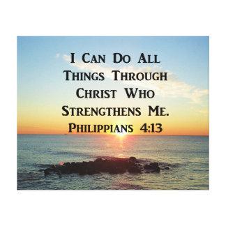 HEAVENLY PHILIPPIANS 4:13 BIBLE VERSE CANVAS PRINT