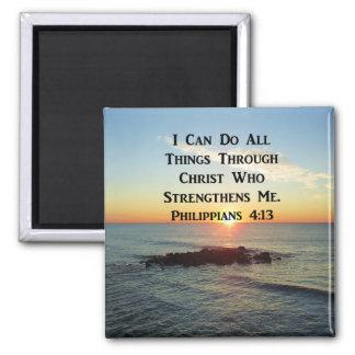 HEAVENLY PHILIPPIANS 4:13 SCRIPTURE DESIGN MAGNET