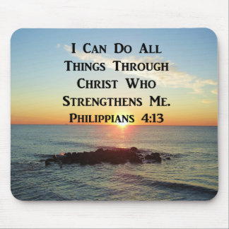 HEAVENLY PHILIPPIANS 4:13 SCRIPTURE DESIGN MOUSE PAD