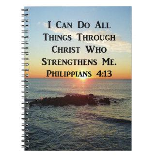 HEAVENLY PHILIPPIANS 4:13 SCRIPTURE DESIGN NOTEBOOK