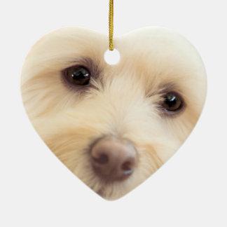Heavenly Pup Ceramic Ornament