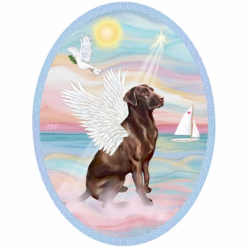 Heavenly Sea  -Chocolate Labrador Acrylic Cut Out