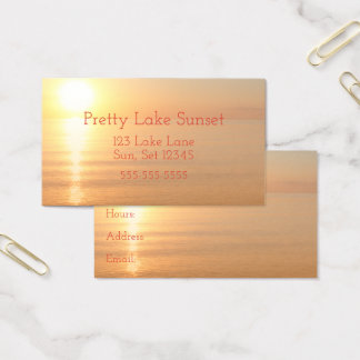 Heavenly Sunset Lake Michigan Sun Seascape Business Card