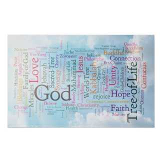 Heavenly Word Cloud Poster
