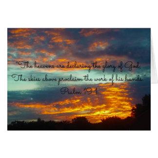 Heavens Declare Glory of God~Scripture Card