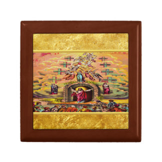 Heaven's Gate with a gold foil texture and Jesus Gift Box