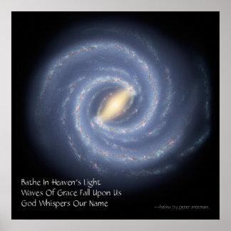Heaven's Light Modern Haiku Poster
