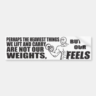 Heaviest Things We Lift and Carry Are Our Feels Bumper Stickers