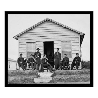 Heavy Artillery Officers at Fort Totten, DC 1865 Poster