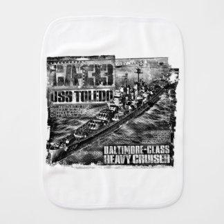 Heavy cruiser Toledo Burp Cloth