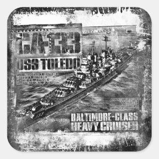 Heavy cruiser Toledo Square Sticker