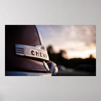 Heavy Duty Chevy Pickup Poster