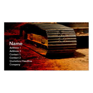 heavy duty construction equipment business card templates